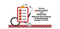 National Farm Safety and Health week Logo